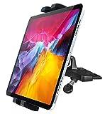 Soporte Tablet Coche CD Ranura, woleyi Porta Tablet & Movil Coche Reproductor de CD con 360° Rotación, para iPad Pro Air Mini, Samsung Galaxy, iPhone 12 11 Pro MAX y 4-11' Teléfono y Tablet