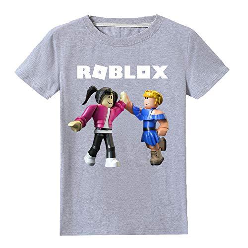 Roblox Camiseta Camiseta de Manga Corta con Estampado de Mangas Cortas for niños,...