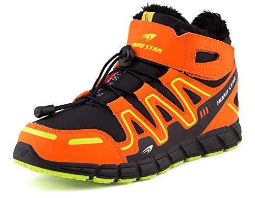 Fusskleidung Damen Herren Outdoor Boots Stiefel Übergrößen Warm Gefüttert Winter Trekking Stiefeletten Schuhe Orange Grün EU 43