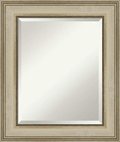 Framed Vanity Mirror   Bathroom Mirrors for Wall   Colonial Light Gold -