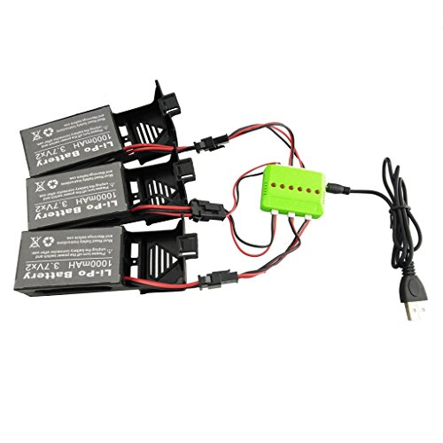 3.7v 350mah lipo battery usb charger cable for x5 x5c rc drone ODUS