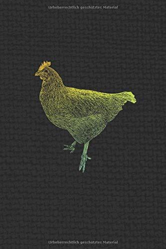 NOTIZBUCH VINTAGE Hühner: I Weißes Papier I 120 Seiten I Kariert I Kladde I Notizheft I Skizzenbuch I DIN-A5 I Geschenk für Hühnerhalter I Kästchenpapier