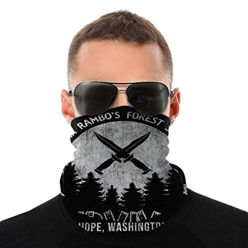 MJKII Schal Sturmhauben Bandana John Rambo Forest Skills Survival Camp First Blood Variety Head Scarf Face Magic Headwear Neck Gaiter Face Bandana Scarf