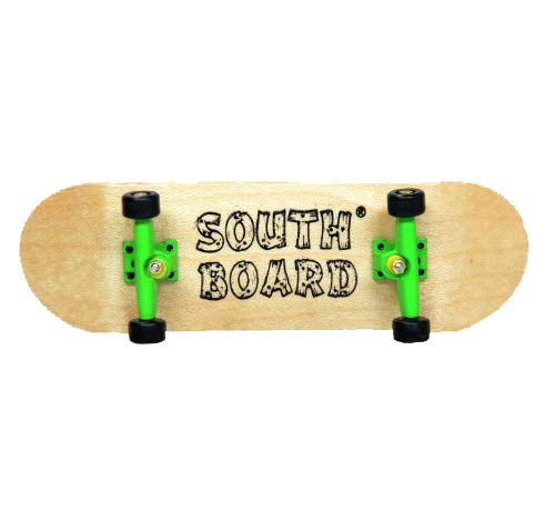 SOUTHBOARDS Komplett Fingerskateboard N/GR/SWZ Handmade Wood Fingerboard Echtholz