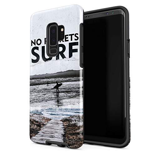 Funda Para Samsung Galaxy S9 Plus Beach Hawaii Ocean Summer Vibes Chill Surf No Regrets, Resistente a los Golpes, Carcasa Dura de PC de 2 Capas + Funda Protectora de Diseño Híbrido de TPU