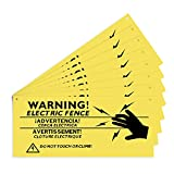 AIEX 8 Piezas Señales De Advertencia De Cerca Eléctrica Señales De Peligro De Precaución De Plástico De 26x11cm Señal De No Tocar Ni Trepar
