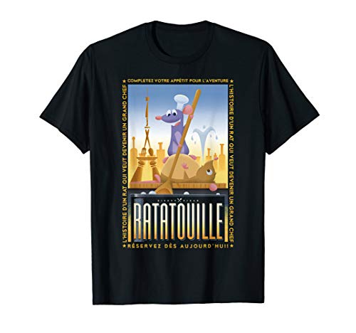 Disney Pixar Ratatouille Remy And Emile Cooking Poster T-Shirt
