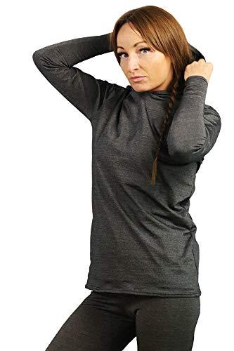BlocWave Flexibloc EMF Protection Womens Hoodie. RF Shielding Anti-Radiation emf protection clothing. EMF Blocker (Medium) Dark Grey
