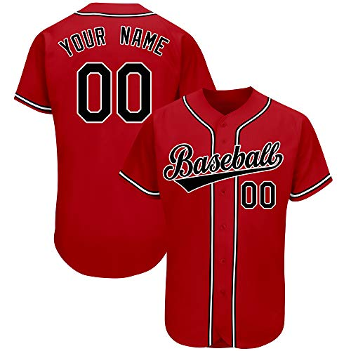 Custom Baseball Jersey Personalized Pinstripe Button Down Shirts Stitched Team Name and Numbers for Men/Women/Youth