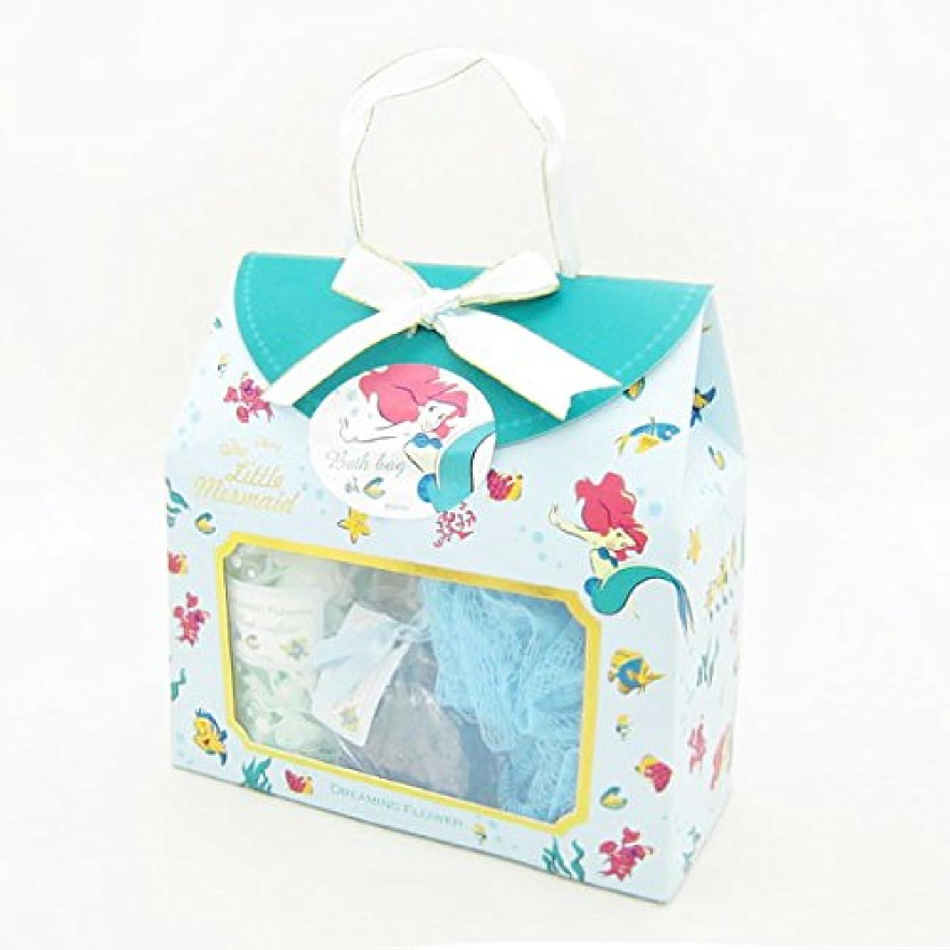 豊かなアートピクニックディズニーフレグランスコレクション バスバッグト5点セット アリエル ドリーミングフラワー(透明感のあるムスクの香り)