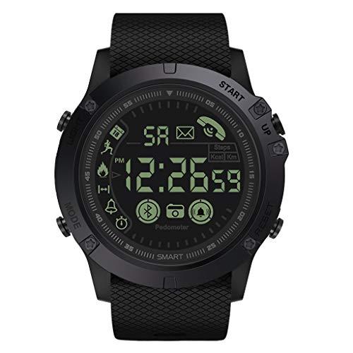 Relojes para hombre, de grado militar, súper resistente, inteligente, resistente al agua, relojes de senderismo al aire libre