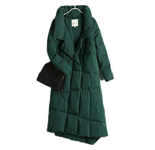 BLHZPD dames donsjack grote maat lange windjas over de kniemantels vrouwen lossen gewatteerde bovenkant