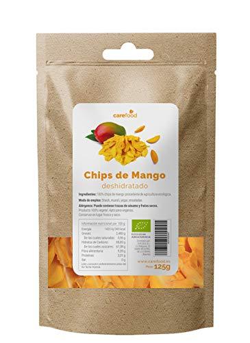 Chips de Mango deshidratado ecológico 125gr Carefood | 100% natural BIO sin azúcar | Snack natural y sano |