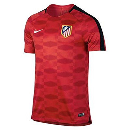 Nike 2017-2018 Atletico Madrid Pre-Match Dry Training Football Soccer T-Shirt Trikot (Red)