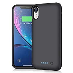 cheap Pxwaxpy iPhone XR Battery Compartment, 6800mAh Portable Protective Charging Case for iPhone XR…