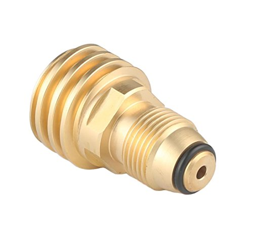 KIBOW Universal Propane Tank Adapter for Old P.O.L Style to New Style/100% Solid Brass