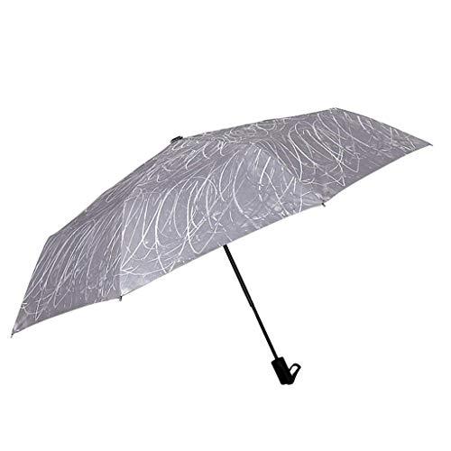 WEHQ Paraguas de Coche Sun & Rain Paraguas Grande UV de Viaje a Prueba de Viento Mujeres Hombres (Color: