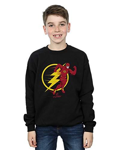 DC Comics Niños The Flash Running Emblem Camisa De Entrenamiento Negro 7-8 Years