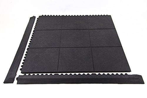 IncStores Evolution Rubber Floor Tiles - Equipment Mats, Gym Flooring and Utility Floors (Center Tiles, Sold Individually)
