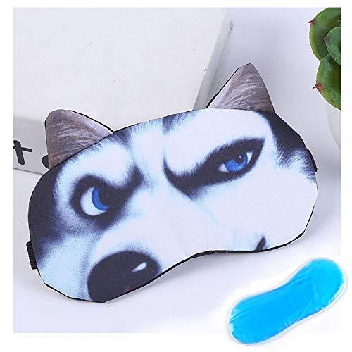 Axroad Mall Schlafaugenmaske 100% Shading 3D Contour Brille, Kältebehandlung Augenringe Augenermüdung, geeignet for Reisen, Transfer und Meditation (Color : Husky)