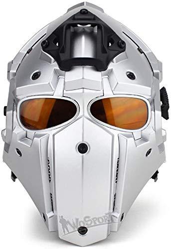 Casco táctico de protección Total Airsoft con Gafas, Utilizado para Juegos de rol, Disparos de Paintball, Andar en Motocicleta