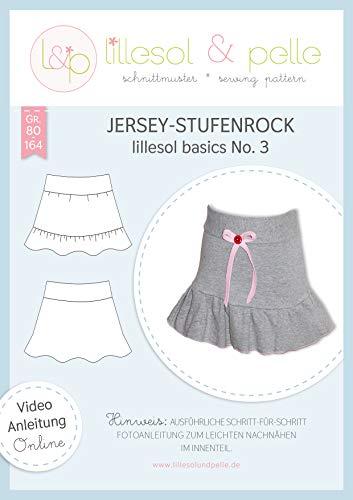 lillesol & pelle Schnittmuster lillesol Basics No.3 Jersey-Stufenrock in Größe 80-164 zum Nähen mit Foto-Anleitung und Video