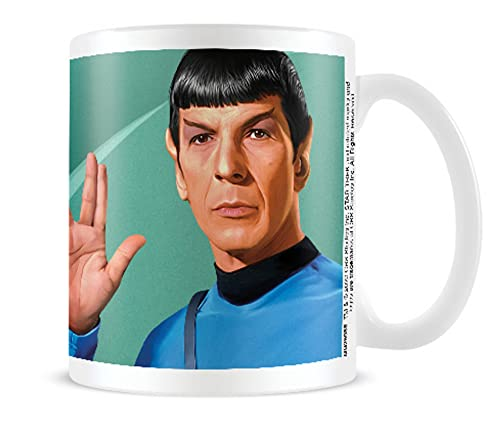 1art1 Star Trek - Spock Green Taza Foto (9 x 8cm)
