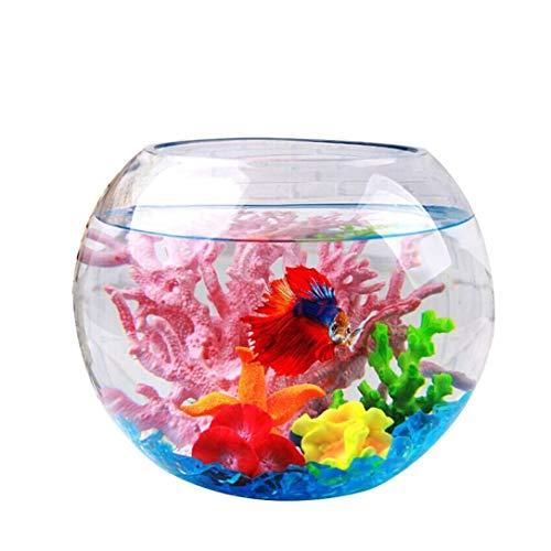 UOEIDOSB La habitación pequeña pecera de Cristal del Acuario del Tanque de Pescados Home Living Creativo Mini Tanque de Pescados