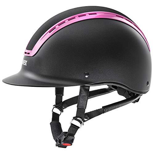 Uvex - Suxxeed Active in lackiert schwarz mit Light pink Rahmen, Größe:XS-S (54-55)