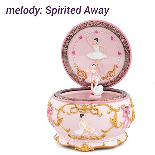 Romance Teenage Dansen van de Ballerina Girl Music Box Swan Lake Luminous Musical Box Huwelijk van Kerstmis for vriendin gift Decor van het Huis QPLNTCQ (Color : Spirited Away, Size : Free)