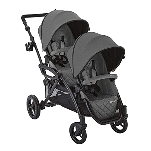 Contours - Options Elite V2 - Convertible Double Stroller - Charcoal Grey