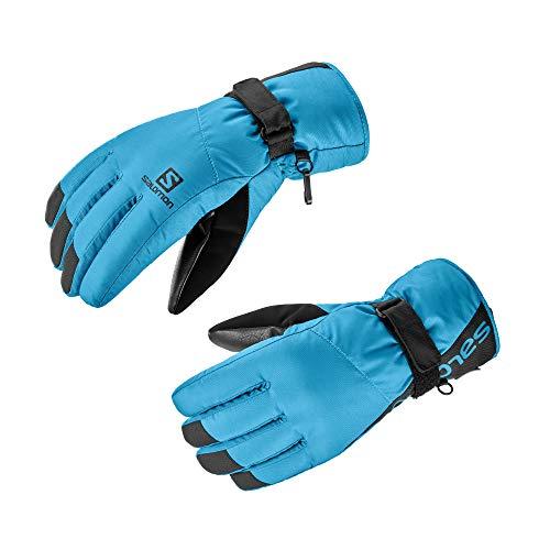 Salomon Herren Handschuhe, FORCE DRY M, Atmungsaktiv, Schwarz/Blau (Fjord Blue), Gr. S, LC1182700