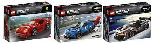 Steinchenwelt Lego® Speed Champions 3er Set: 75890 Ferrari F40 Competizione + 75891 Chevrolet Camaro ZL1 + 75892 McLaren Senna
