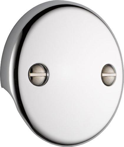 Delta Faucet U2693-PK Overflow Plate 2 Hole Tub Drain, Chrome,1 Pack