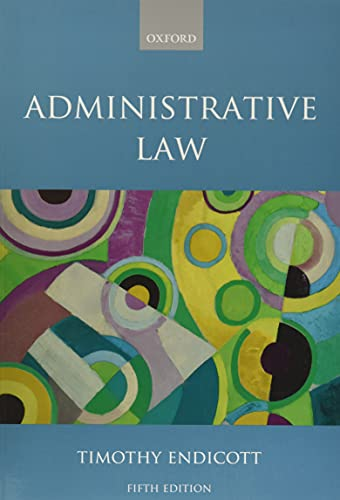 Compare Textbook Prices for Administrative Law 5 Edition ISBN 9780192893567 by Endicott, Timothy