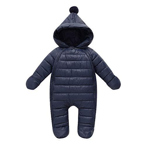 AOOPOO Pagliaccetto Tuta Invernale con Cappuccio Caldo Bambino Tute da Neve con Guanti,Abbigliamento Caldo per Bambini All'aperto Autunno Inverno