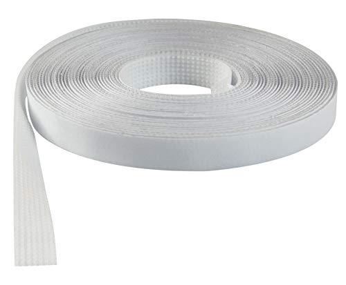 Windhager Insektenschutz Plus Klettband selbstklebend, Flauschband, Klettverschluss Fliegengitter, Befestigungsband, 5m, 03472, Weiss