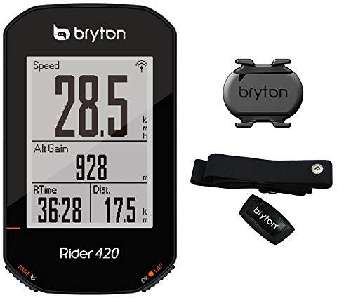 Bryton 420T Rider con cadencia y Banda Cardio, Unisex Adulto, Negro, 83.9x49.9x16.9