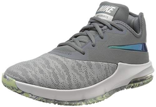 Nike Herren Air Max Infuriate Iii Low Basketballschuhe, Grau (Cool Grey/Dark Grey-Platinum T 107), 43 EU