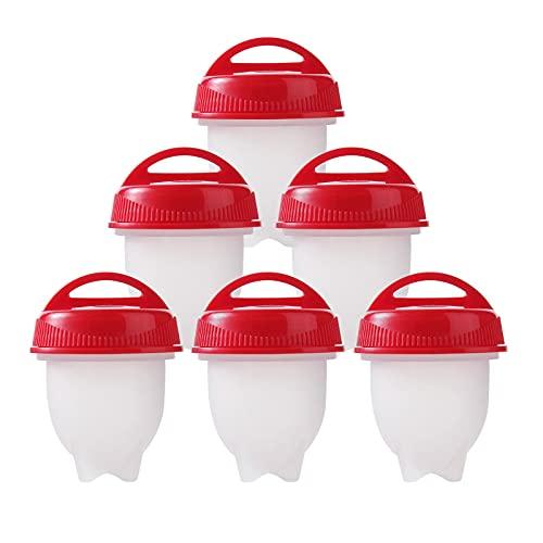 Cocina de huevos, silicona antiadherente, hueveras, olla de huevo de silicona, caldera de huevo huevos duros sin cáscara de silicona (6 unidades)