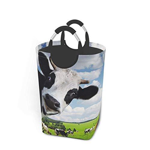 NOBRAND Cesto de lavandería grande de 50 l, plegable, con asas de aluminio, para ropa sucia, bolsa plegable