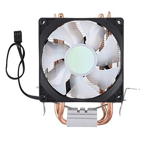 Enfriador de CPU de 90 mm, radiador de enfriamiento de CPU de Ventilador único de 2 Tubos, radiador de enfriamiento de CPU RGB en Forma de U, Ventilador de enfriamiento de Aire, etc.