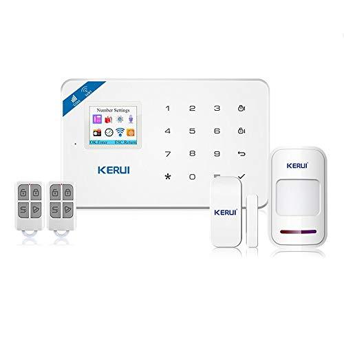 KERUI W18 WiFi GSM Alarmanlage Android App IOS Kontrolle Wireless Sicherheitssystem Wireless Magnetischer Fenster Sensor Bewegungsmelder (Basiswert)