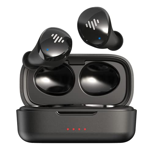 iLuv TB100 Black True Wireless Earbuds Cordless in-Ear Bluetooth 5.0 with Hands-Free Call Microphone, IPX6 Waterproof Protection, High-Fidelity Sound; Includes Compact Charging Case & 3 Ear Tips