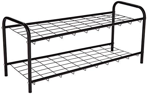 Amazon Brand - Solimo 2 Step Steel Foldable Shoe Rack