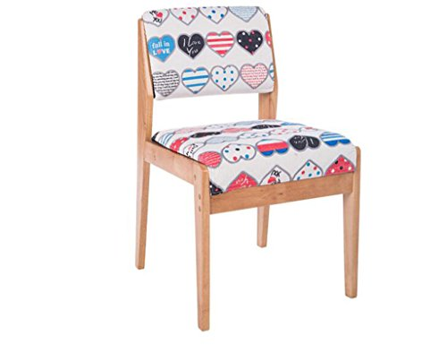 Tabouret en bois Chaise de salle à manger en bois massif/chaise de restaurant européen/tabouret de table à manger/chaise de salle à manger coton amovible et lavable (Couleur : #5)