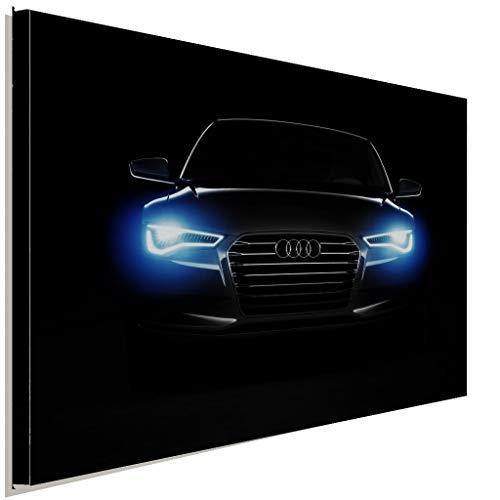 AK ART Audi Front Scheinwerfer Leinwandbild Kunstdruck Wandbild Wanddeko TOP XXL (100x75cm)