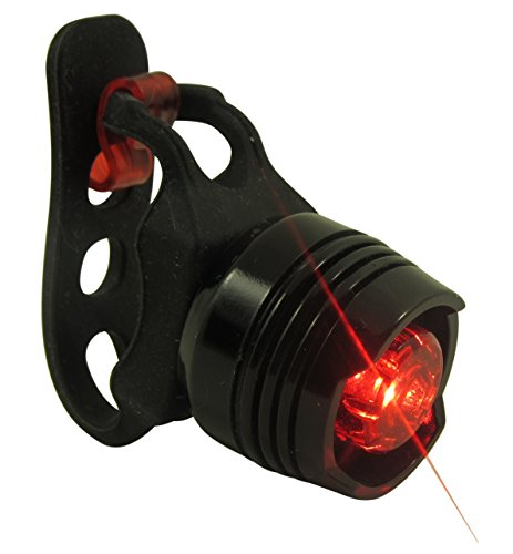 Stark Bike Tail Light - Waterproof Rear Bike LED - Best & Brightest - Small & Rugged - Mount w/Out Tools - Road, Racing & Mountain - Batteries Included - Fits All Bicycles, Trikes, Scooters