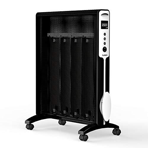TURBRO Arcade HR1020 Wärmewelle Heizgerät 2000 Watt mit Thermostat, Timer und Fernbedienung, Räume bis 60 m³, GS zertifiziert, 220-240V, Schwarz