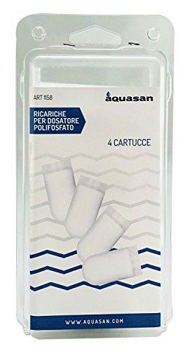 Aquasan 1158 Cartuccia Ricambio Dosatore per Caldaia, Bianco, Set di 4 Pezzi